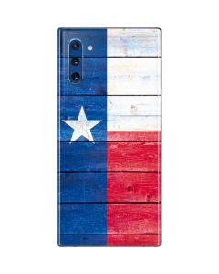 Texas Flag Light Wood Galaxy Note 10 Skin