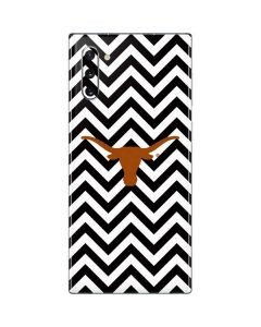 Texas Longhorns Chevron Black Galaxy Note 10 Skin