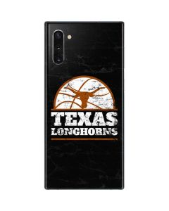 Texas Longhorns Distressed Basketball Galaxy Note 10 Skin