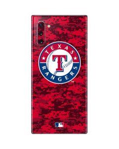 Texas Rangers Digi Camo Galaxy Note 10 Skin