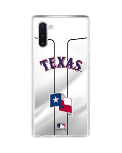 Texas Rangers Home Jersey Galaxy Note 10 Clear Case
