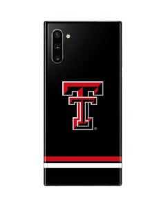 Texas Tech Striped Logo Galaxy Note 10 Skin