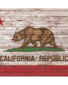 California Flag Dark Wood Generic Laptop Skin