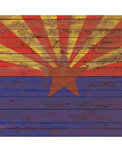 Arizona Flag Dark Wood Generic Laptop Skin