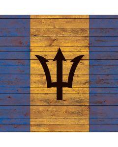Barbados Flag Dark Wood Generic Laptop Skin
