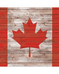 Canadian Flag Dark Wood Generic Laptop Skin