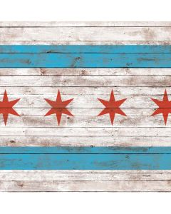 Chicago Flag Dark Wood Generic Laptop Skin