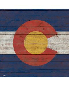 Colorado Flag Dark Wood Generic Laptop Skin