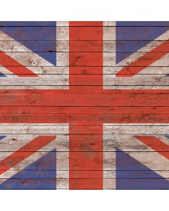 United Kingdom Flag Dark Wood Generic Laptop Skin