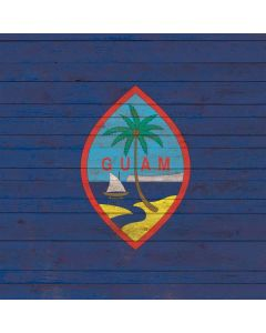 Guam Flag Dark Wood Generic Laptop Skin