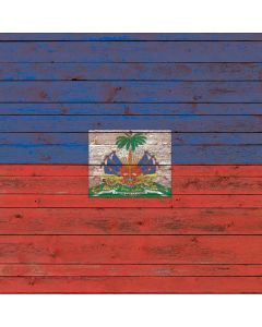 Haiti Flag Dark Wood Apple TV Skin
