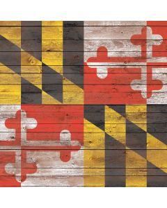 Maryland Flag Dark Wood Generic Laptop Skin