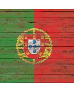 Portuguese Flag Dark Wood Generic Laptop Skin