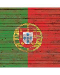 Portuguese Flag Dark Wood Xbox One X Console Skin