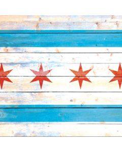 Chicago Flag Light Wood Apple TV Skin
