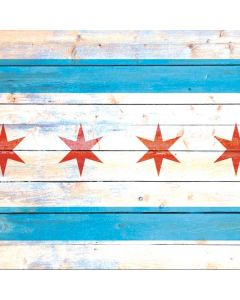 Chicago Flag Light Wood Generic Laptop Skin