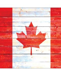 Canada Flag Light Wood Apple TV Skin
