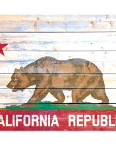 California Flag Light Wood Generic Laptop Skin