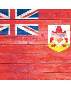 Bermuda Flag Light Wood Generic Laptop Skin
