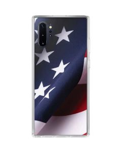 The American Flag Galaxy Note 10 Plus Clear Case