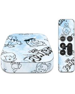 The Flintstones Tie Dye Print Apple TV Skin