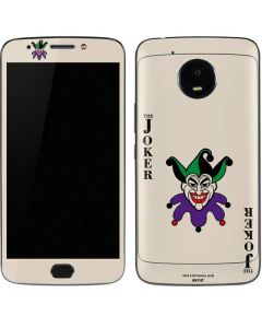 The Joker Calling Card Moto E4 Plus Skin