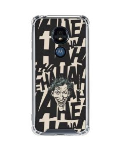 The Joker Laughing Moto G7 Power Clear Case