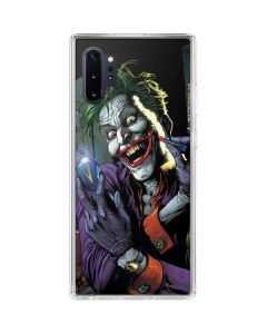 The Joker Put on a Smile Galaxy Note 10 Plus Clear Case