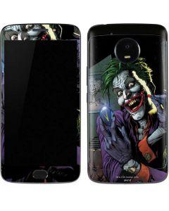 The Joker Put on a Smile Moto E4 Plus Skin