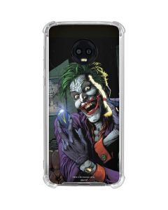 The Joker Put on a Smile Moto G6 Clear Case