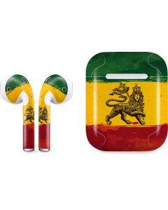 The Lion of Judah Rasta Flag Apple AirPods Skin