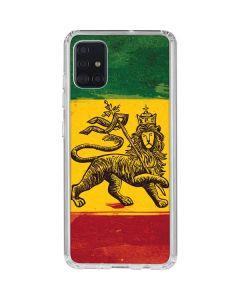 The Lion of Judah Rasta Flag Galaxy A51 Clear Case