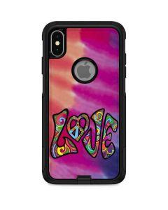 Tie Dye Peace & Love Otterbox Commuter iPhone Skin