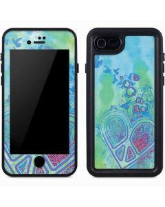 Tie Dye Peace Heart iPhone 8 Waterproof Case