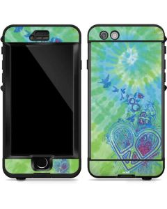 Tie Dye Peace Heart LifeProof Nuud iPhone Skin