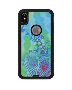 Tie Dye Peace Heart Otterbox Commuter iPhone Skin