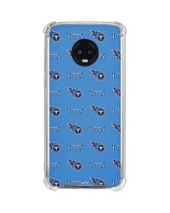 Tennessee Titans Blitz Series Moto G6 Clear Case