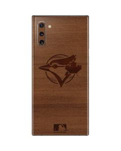 Toronto Blue Jays Engraved Galaxy Note 10 Skin
