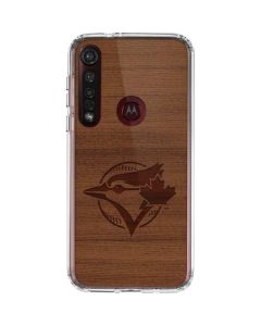 Toronto Blue Jays Engraved Moto G8 Plus Clear Case