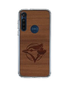 Toronto Blue Jays Engraved Moto G8 Power Clear Case