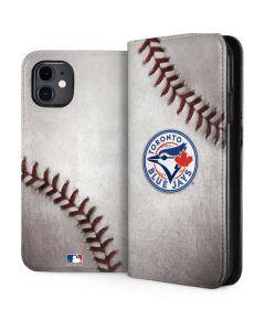 Toronto Blue Jays Game Ball iPhone 11 Folio Case
