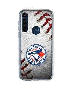 Toronto Blue Jays Game Ball Moto G8 Power Clear Case