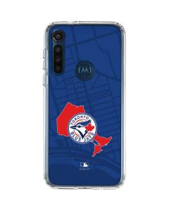 Toronto Blue Jays Home Turf Moto G8 Power Clear Case