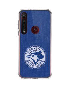 Toronto Blue Jays Monotone Moto G8 Plus Clear Case
