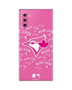 Toronto Blue Jays Pink Cap Logo Blast Galaxy Note 10 Skin