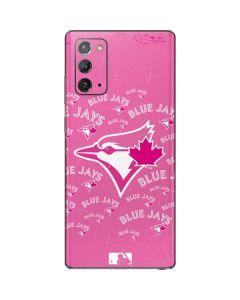 Toronto Blue Jays Pink Cap Logo Blast Galaxy Note20 5G Skin