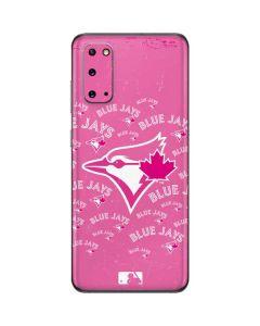 Toronto Blue Jays Pink Cap Logo Blast Galaxy S20 Skin