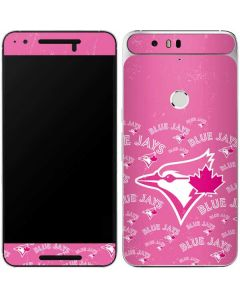 Toronto Blue Jays Pink Cap Logo Blast Google Nexus 6P Skin