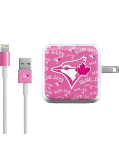 Toronto Blue Jays Pink Cap Logo Blast iPad Charger (10W USB) Skin