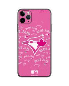 Toronto Blue Jays Pink Cap Logo Blast iPhone 11 Pro Max Skin